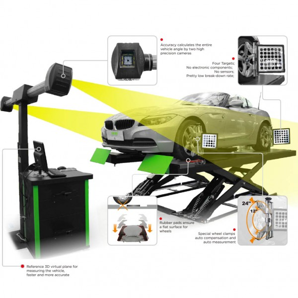 PL-3D-5555U Wheel Alignment Machine