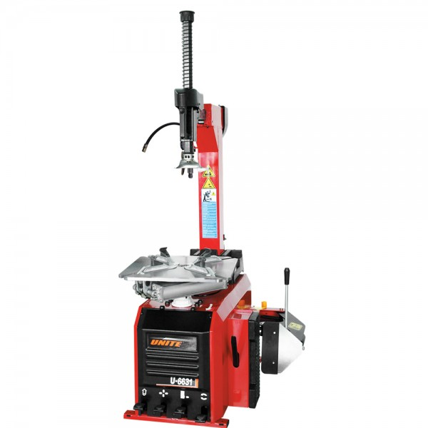U-6631 fully-automatic tilt back tower tire change...