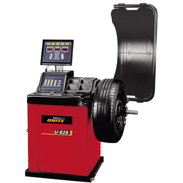 U-828 self-calibrating computer wheel balancer