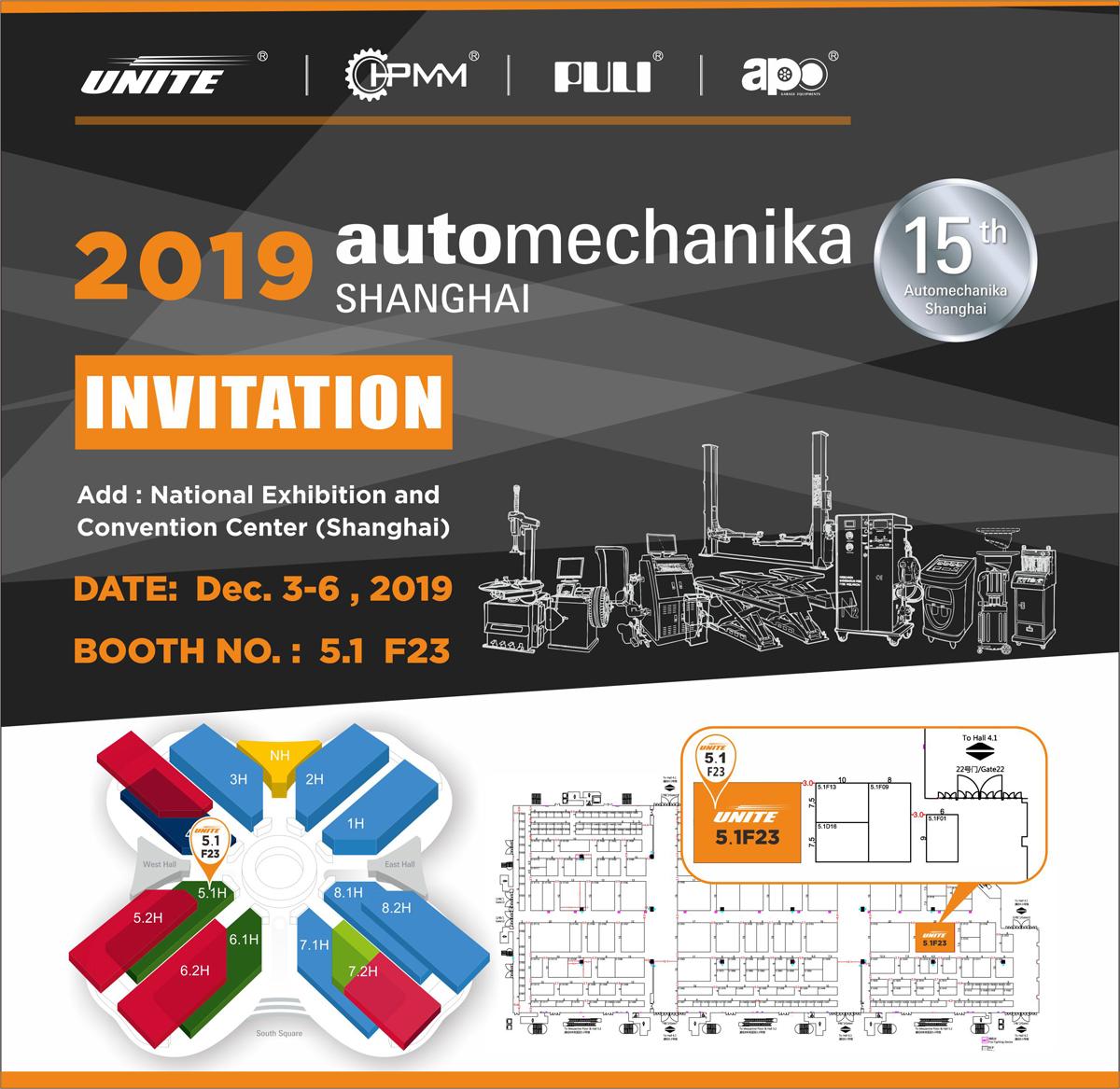 Invitation for Automechanika Shanghai 2019