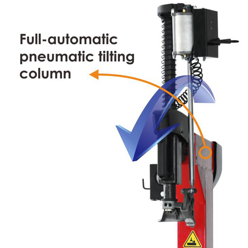 1. Full-automatic pneumatic tilting column